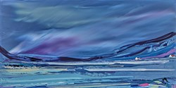 Arctic Harbour by Duncan MacGregor - Original Painting on Board sized 36x18 inches. Available from Whitewall Galleries